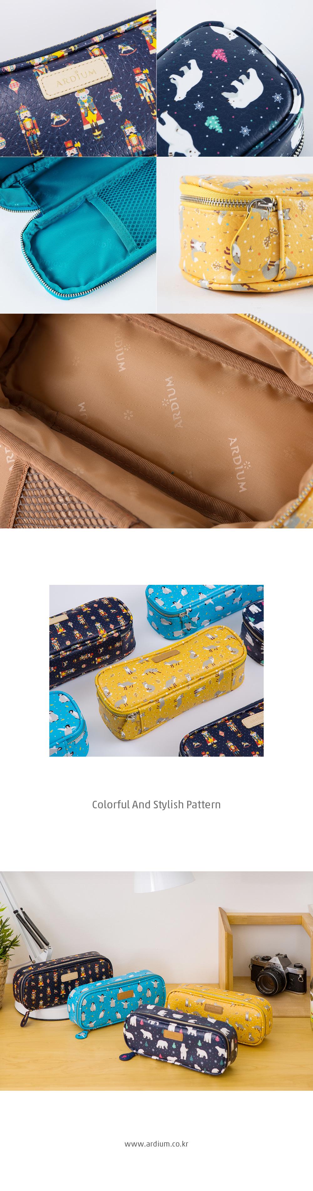애니멀 블록 펜슬 파우치 - 아르디움, 16,800원, 가죽/합성피혁필통, 패턴